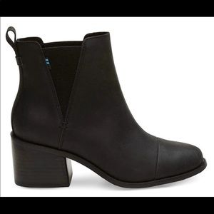 Toms Esme boots black leather NiB 8.5